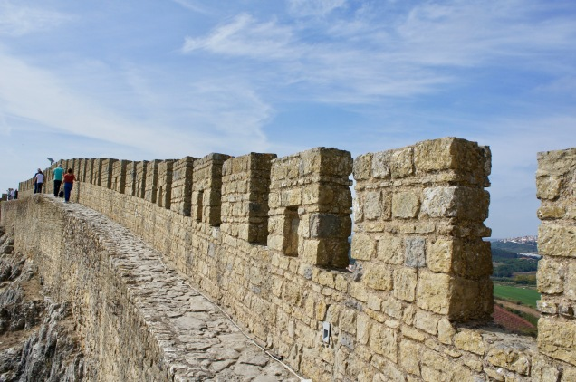 Medieval wall in Obidos