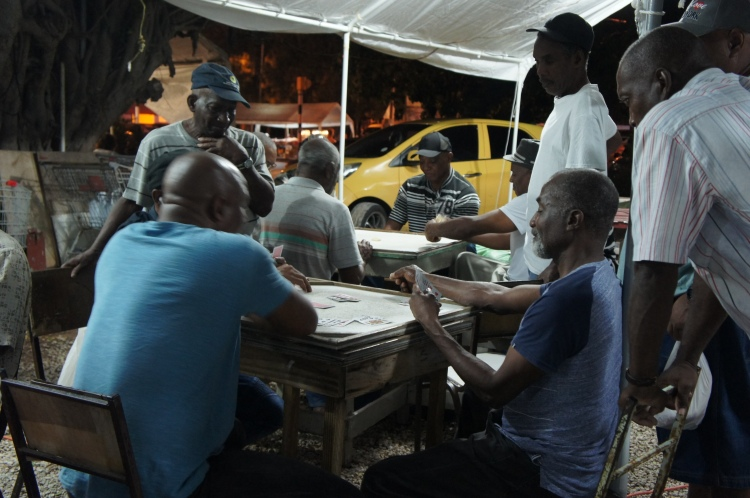 Oistins card players Barbados