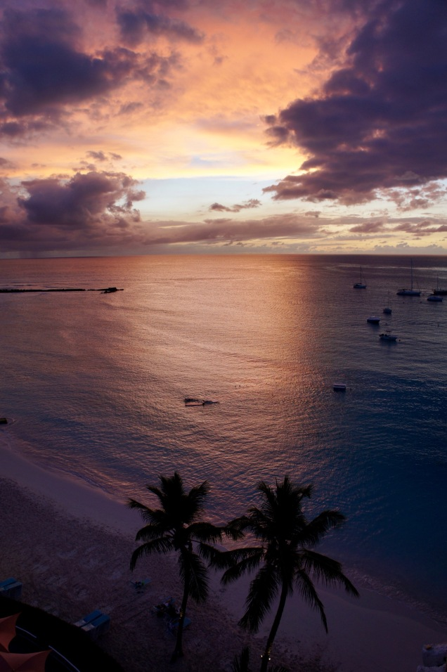 Pebbles Beach sunset Barbados