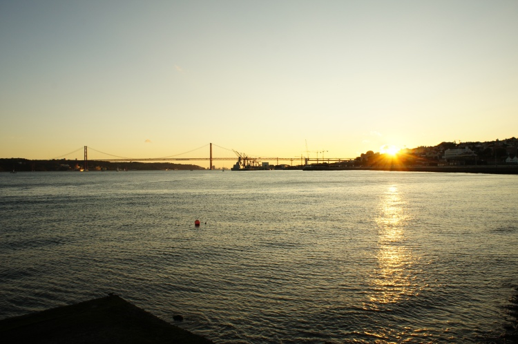 Sunset in Cais do Sodres Lisbon