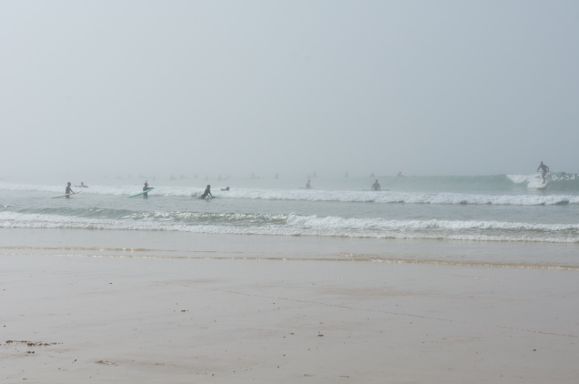 Surfers in Baleal Beach