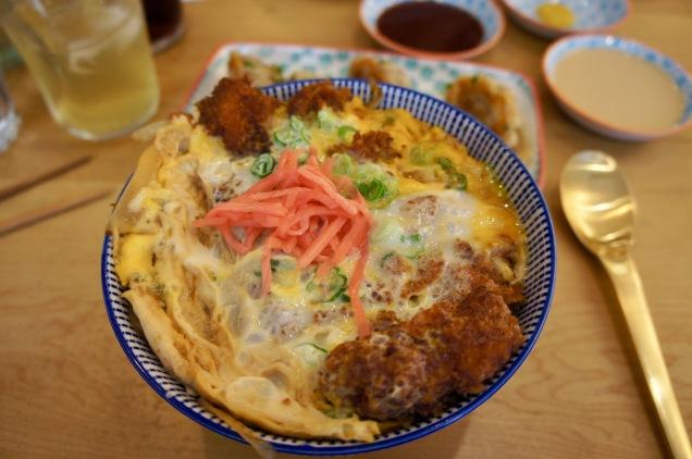 Tonkatsu donburi in Machiya