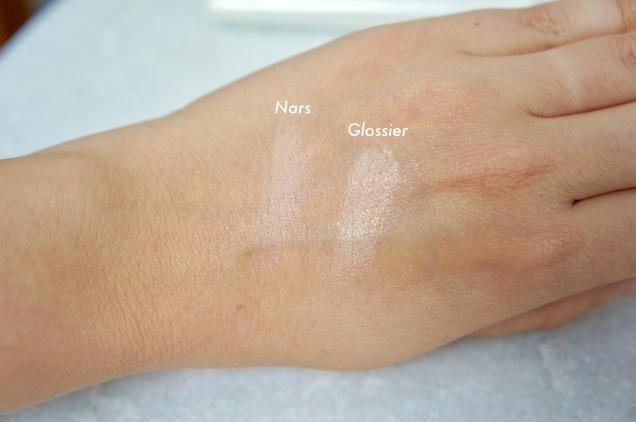 Nars Soft Matte concealer and Glossier Stretch concealer colours