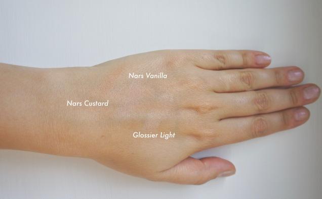 Nars Soft Matte concealer and Glossier Stretch concealer