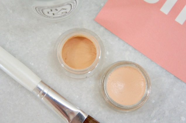 Nars Soft Matte concealer and Glossier Stretch concealer texture