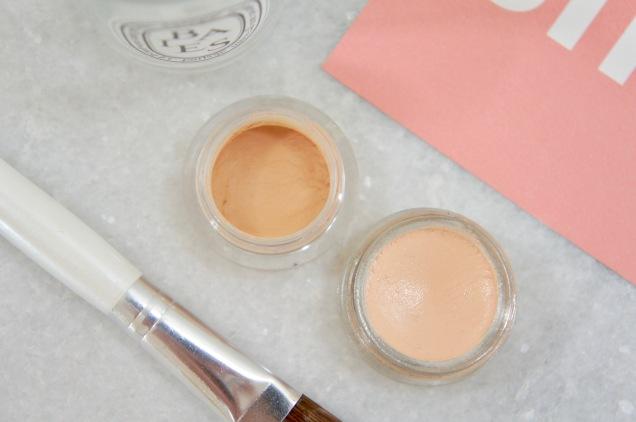 Nars Soft Matte concealer and Glossier Stretch concealer texture