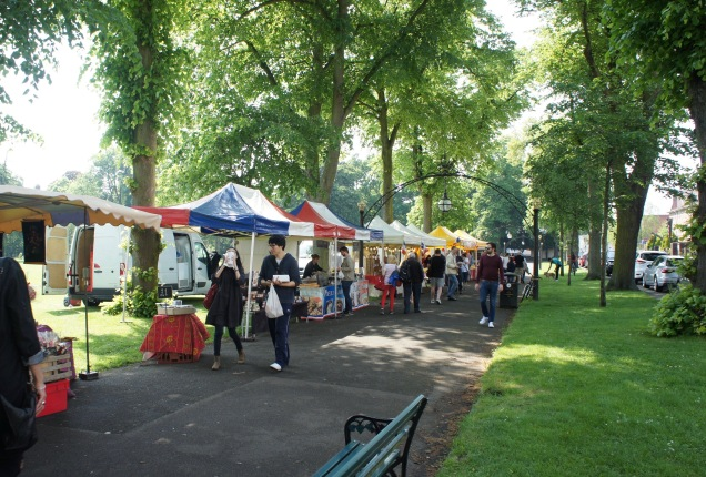 French market in Royal Leamington Spa