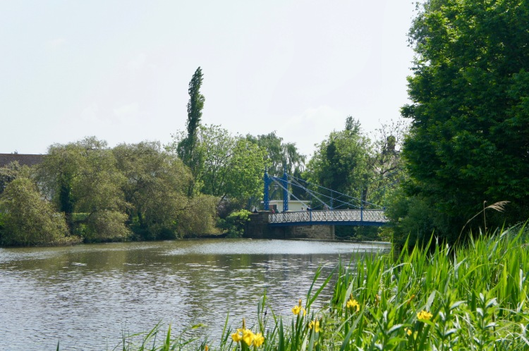 River Leam in RoyalLeamington Spa