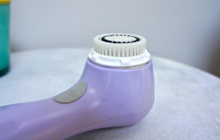 Purple Clarisonic brush