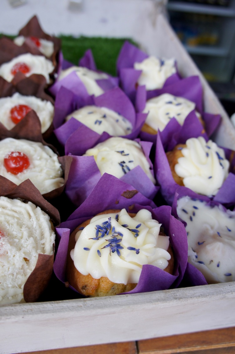 Lavender cupcake in Mayfield Lavender