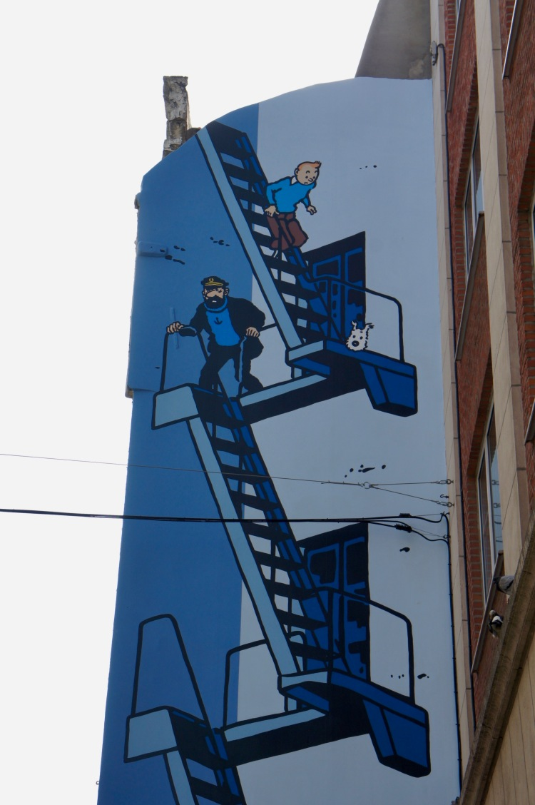Tintin mural Brussels