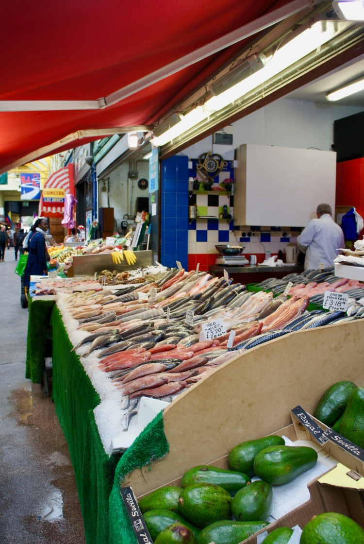Fishmonger in Brixton Market