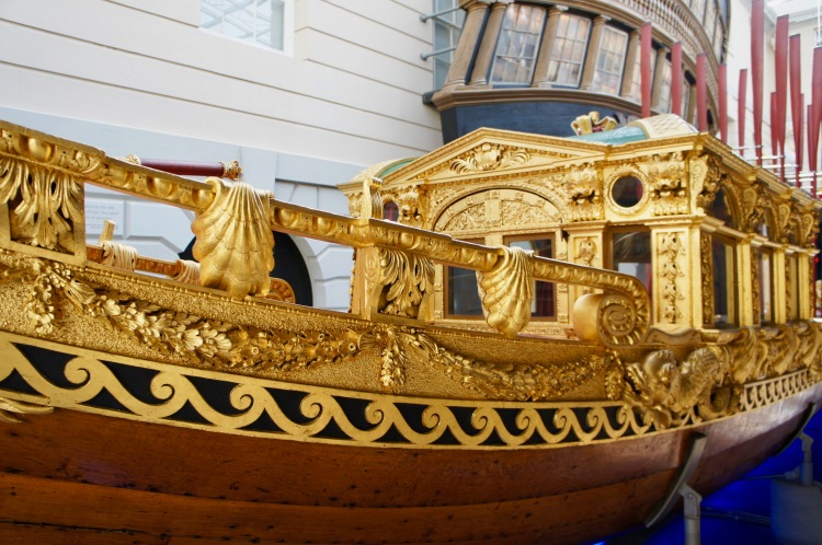 Gold barge at The National Maritime Museum