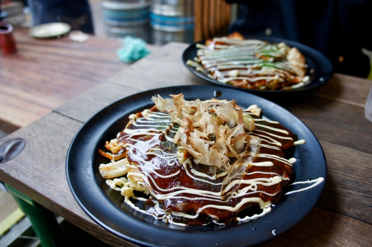 Okonomiyaki at Okan in Brixton Market