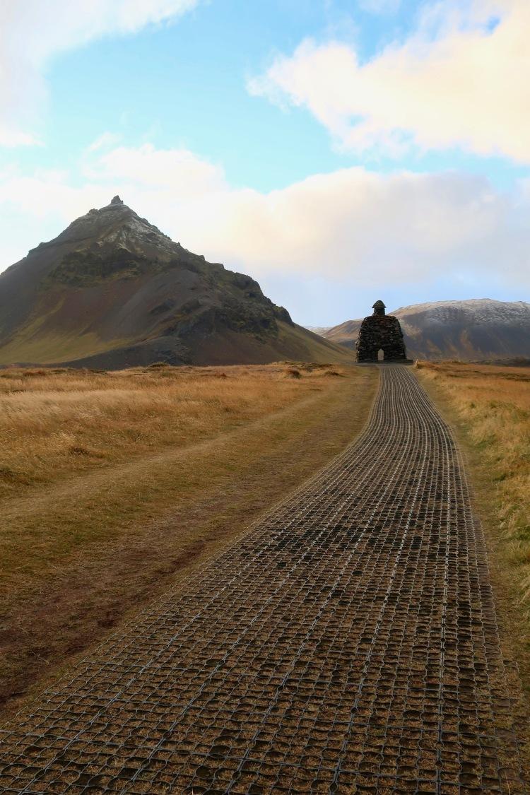 Arnarstapi troll statue Iceland
