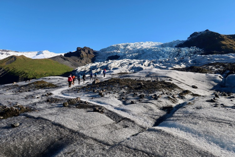 Glacier hike in Iceland