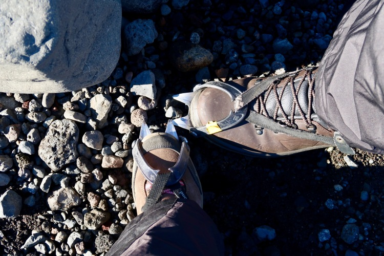 Glacier hike in Iceland crampons