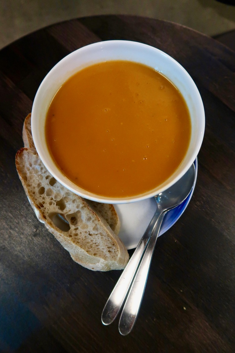 Lobster bisque at Grandi Mathöll Reykjavik Iceland