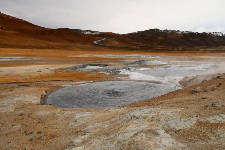 Hverir boiling mud