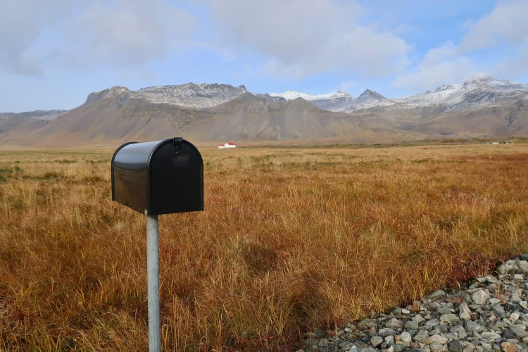 Iceland roadtrip on west coast mail box