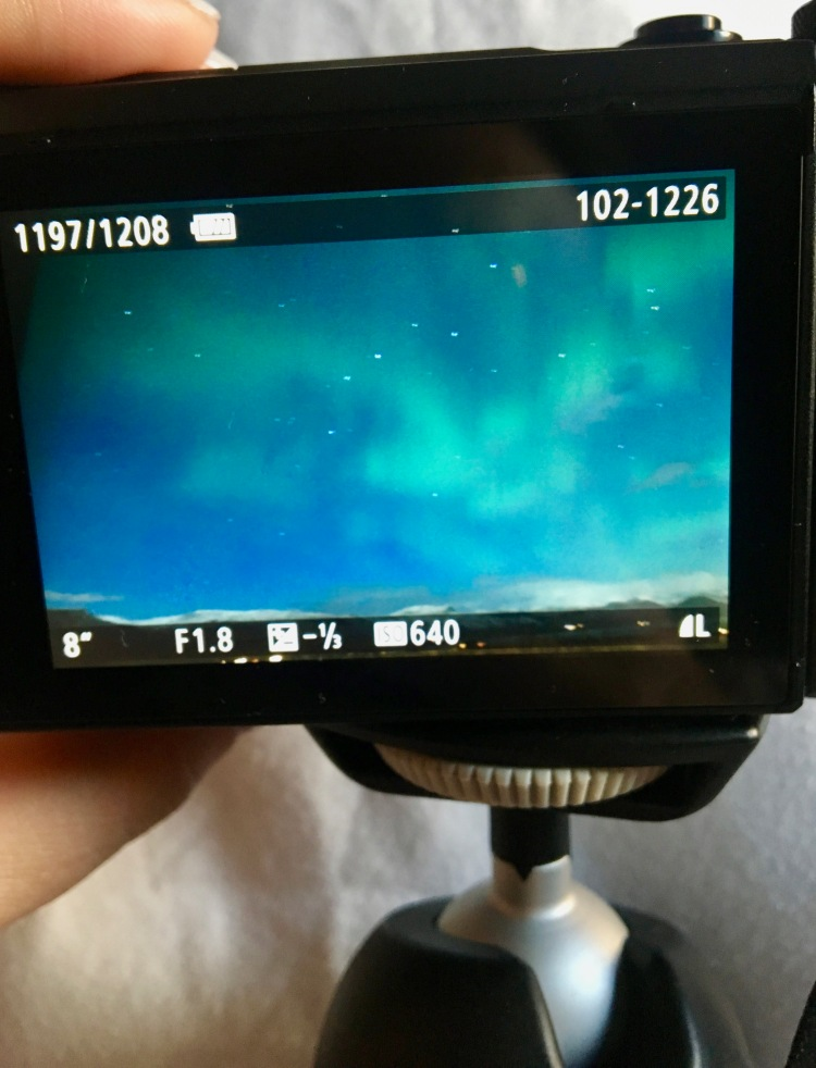 Northern Lights on camera