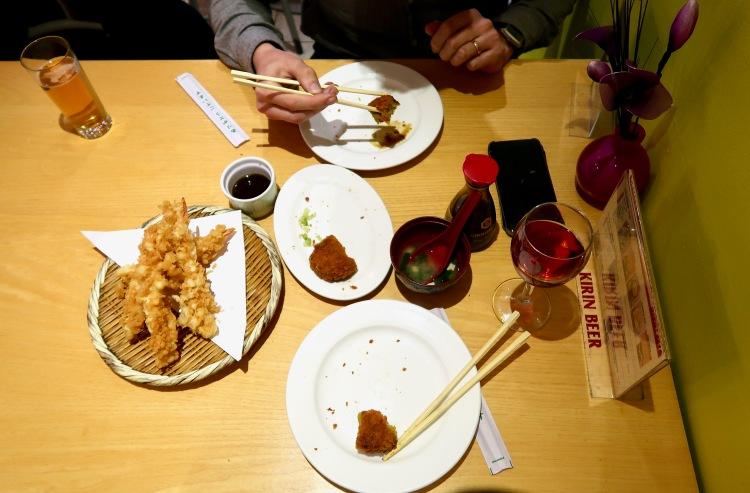 Sapporo Ichiban prawns tempura