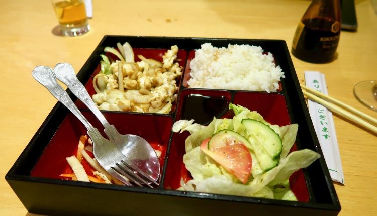 Sapporo Ichiban squid bento box