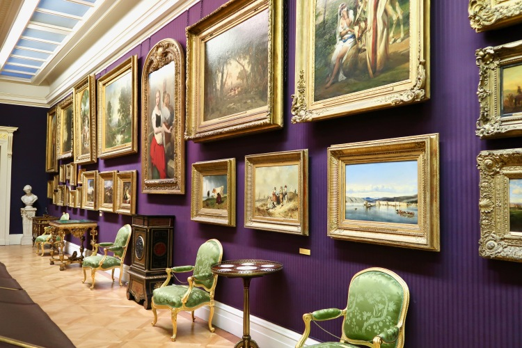 The Wallace Collection purple room