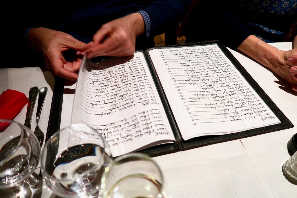 Au Pont Corbeau wine list