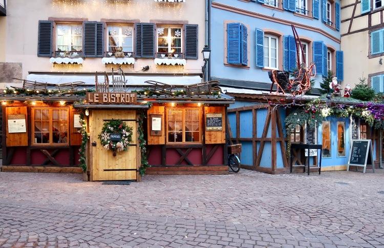 Colmar restaurants Christmas decorations