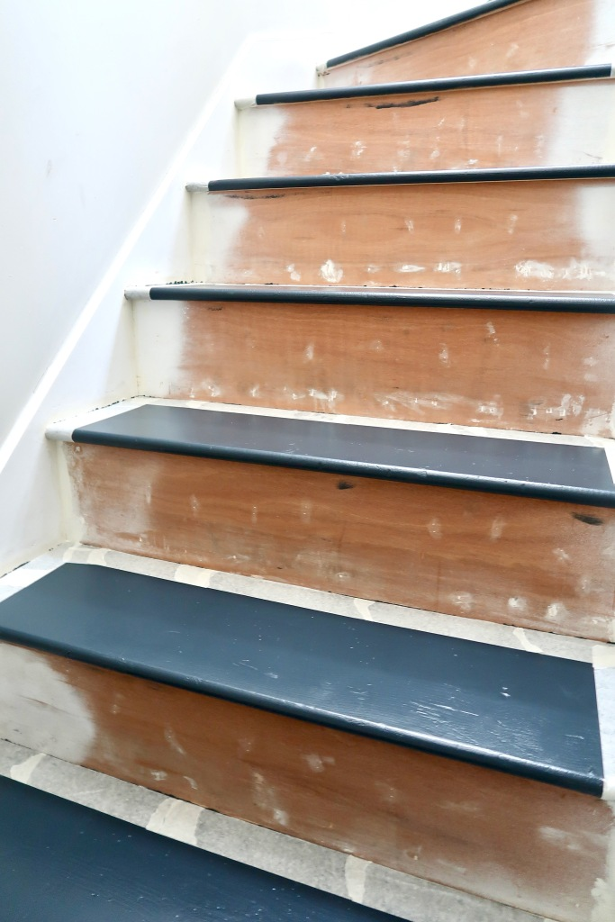 Farrow and Ball Modern Eggshell Railings stairs