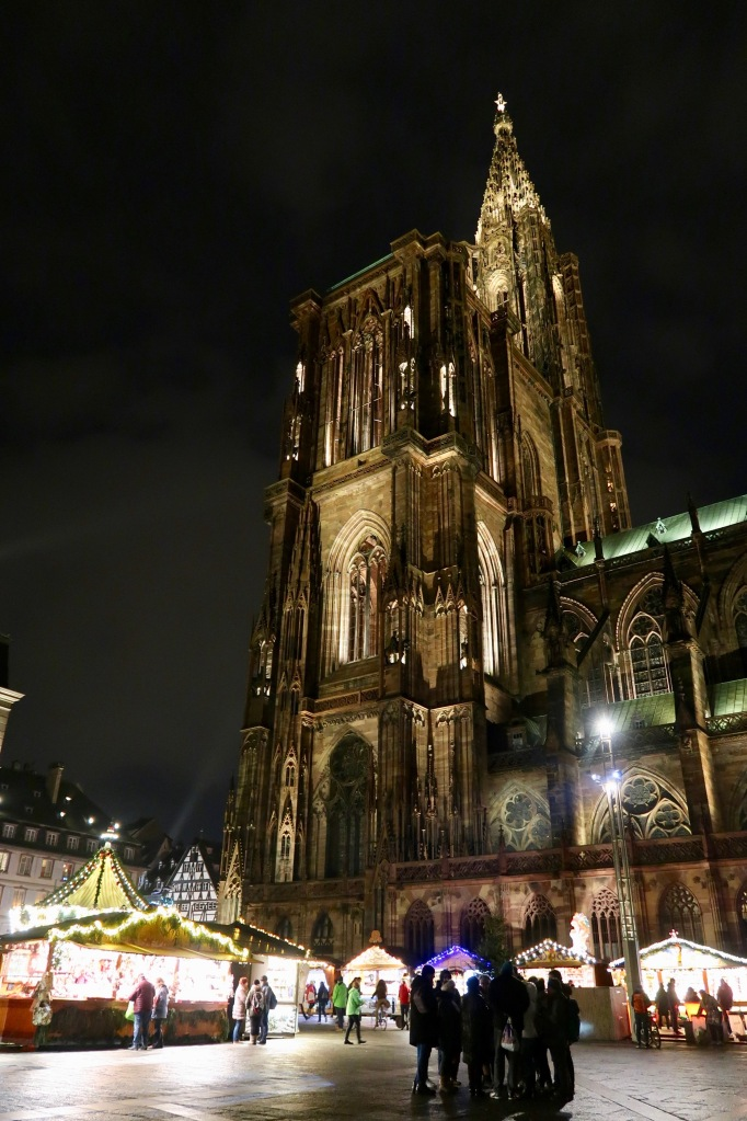 Strasbourg Cathedral by night