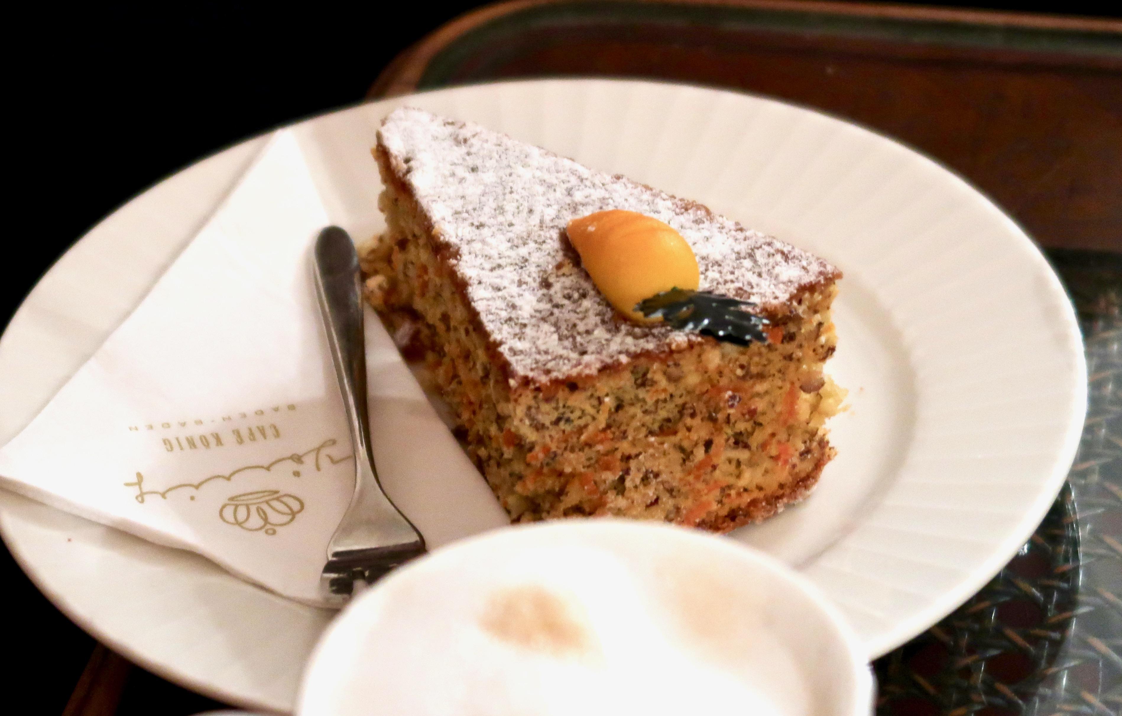 Café König Baden-Baden carrot cake