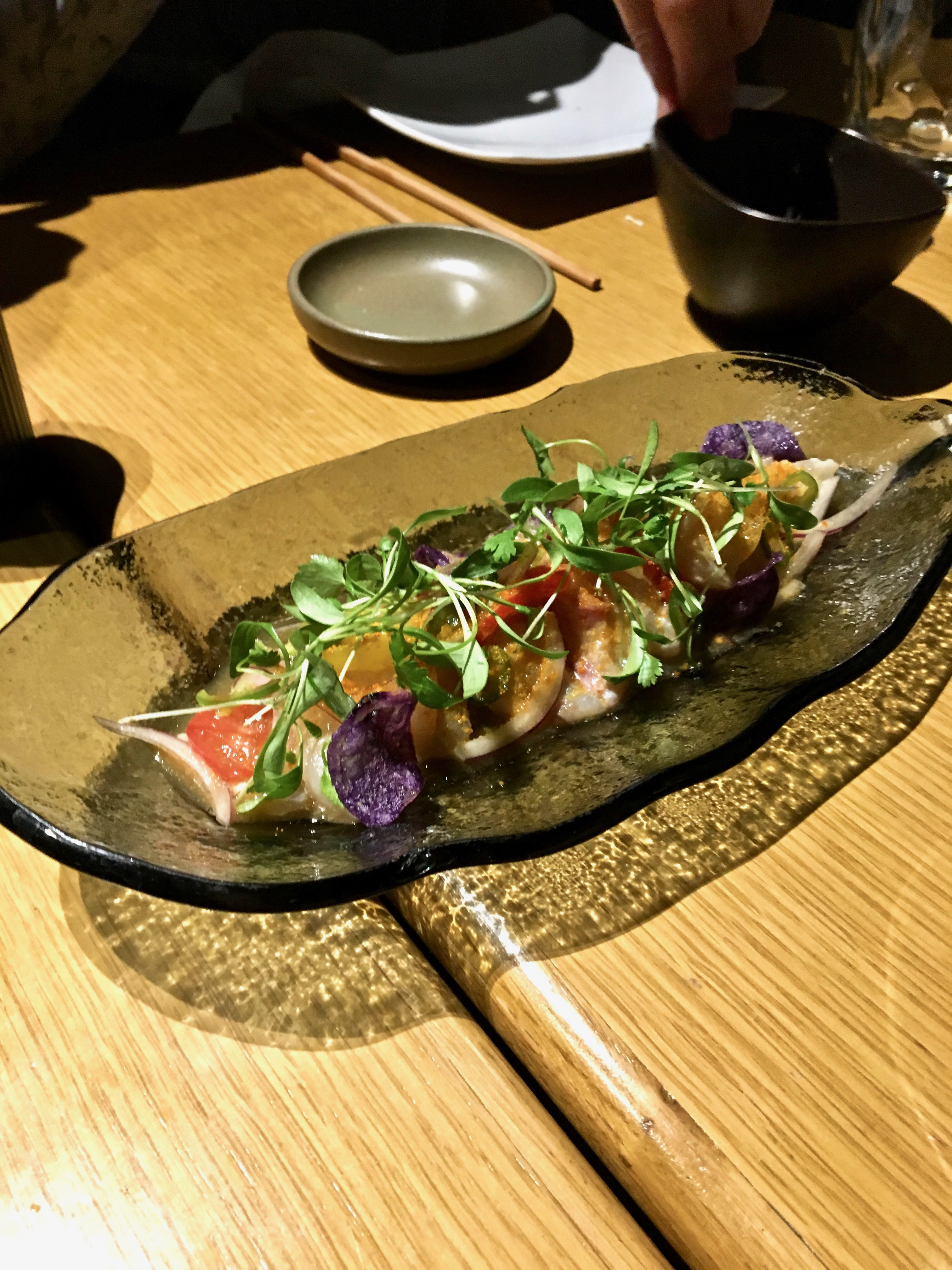 Chotto Matte Nikkei Sashimi seabass