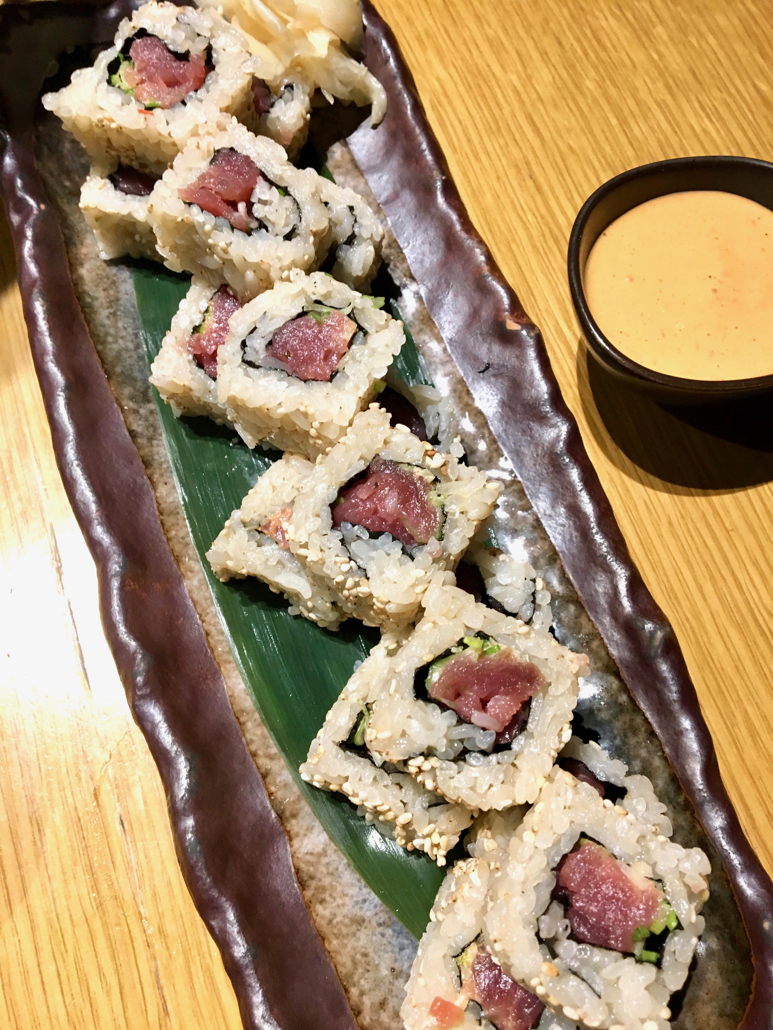 Chotto Matte tuna sushi rolls