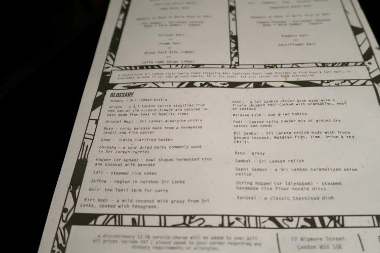 Hoppers glossary menu