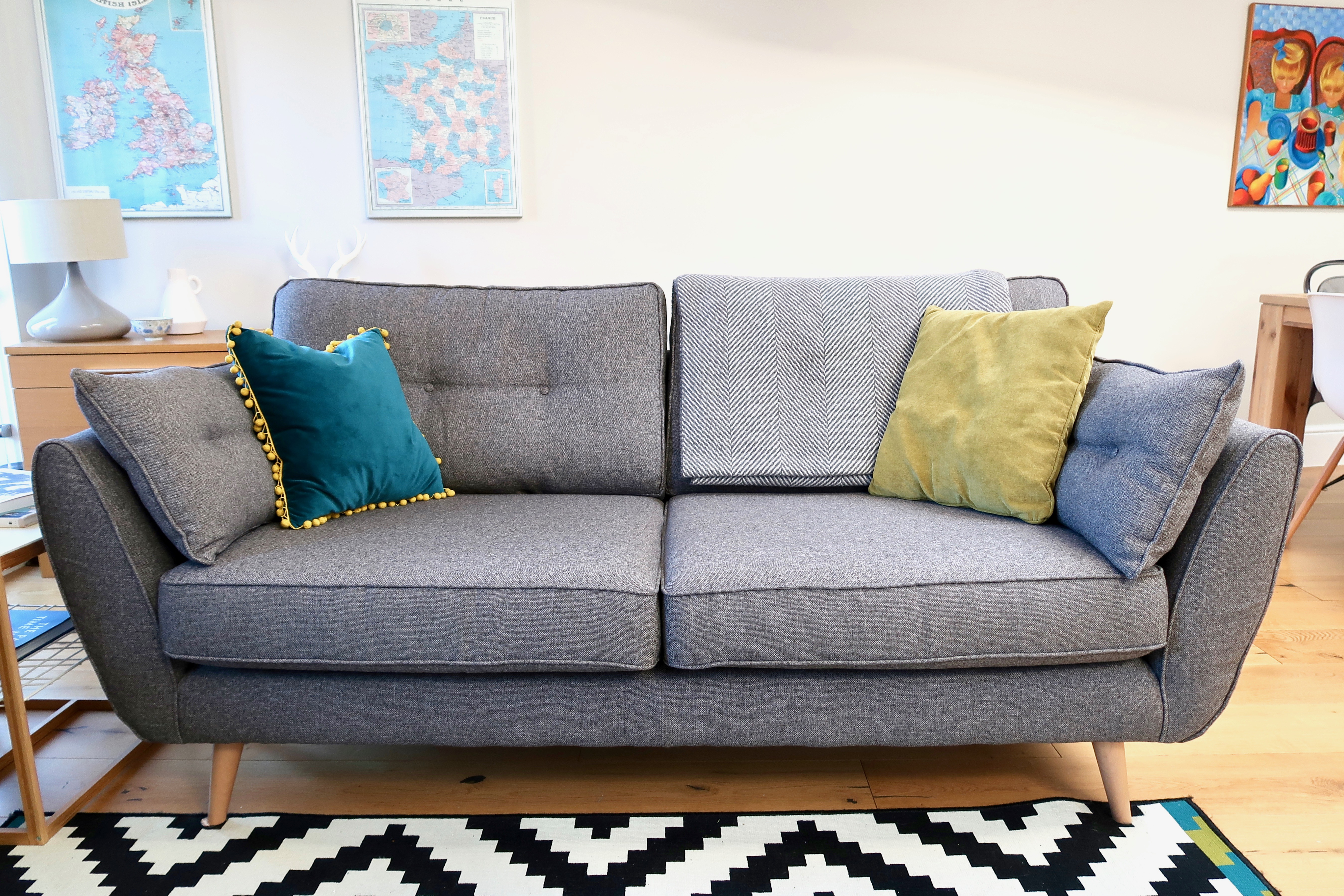 French Connection Zinc sofa
