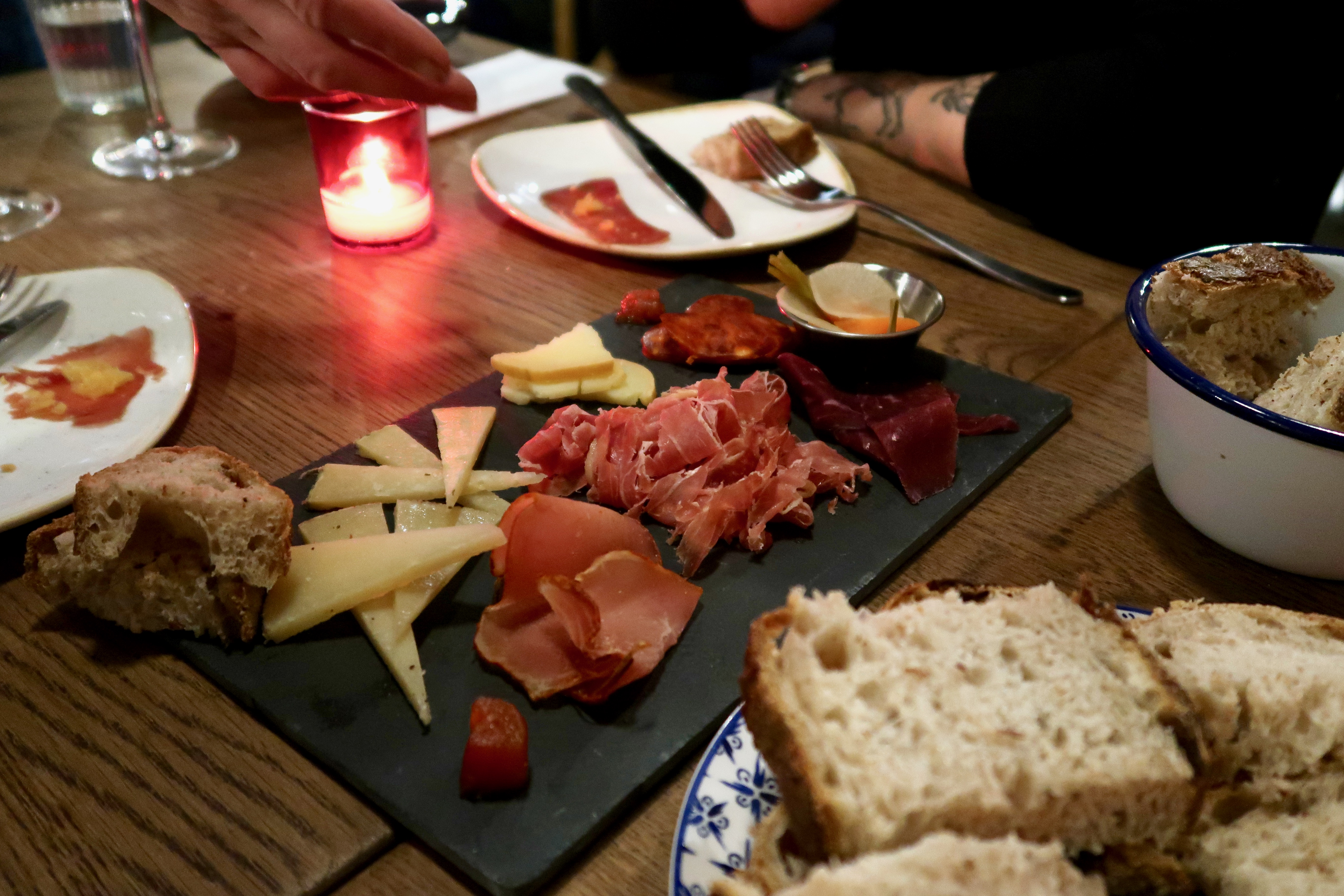 L'Oculto mixed cheese and charcuterie board