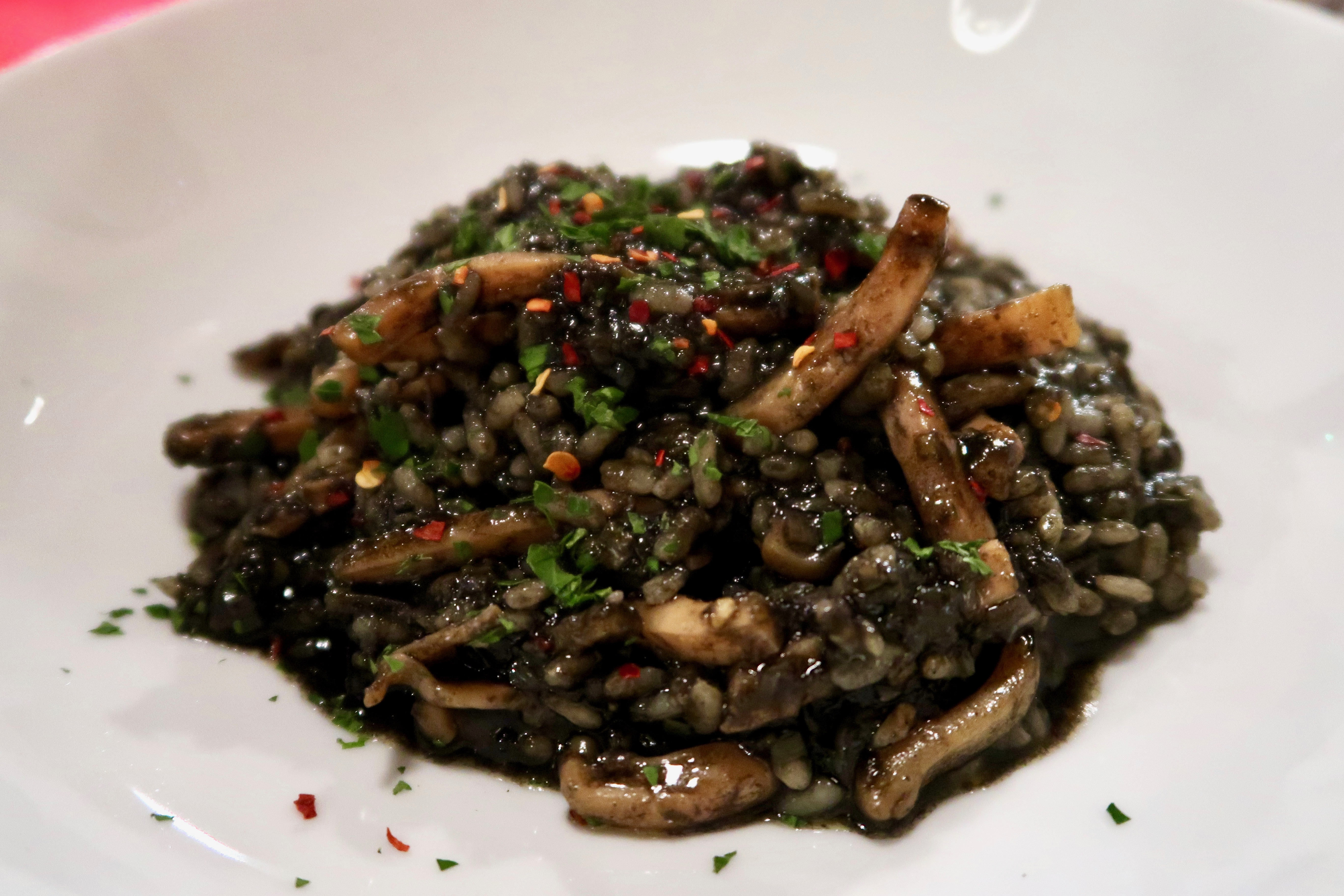L'Oculto squid ink sauce and rice