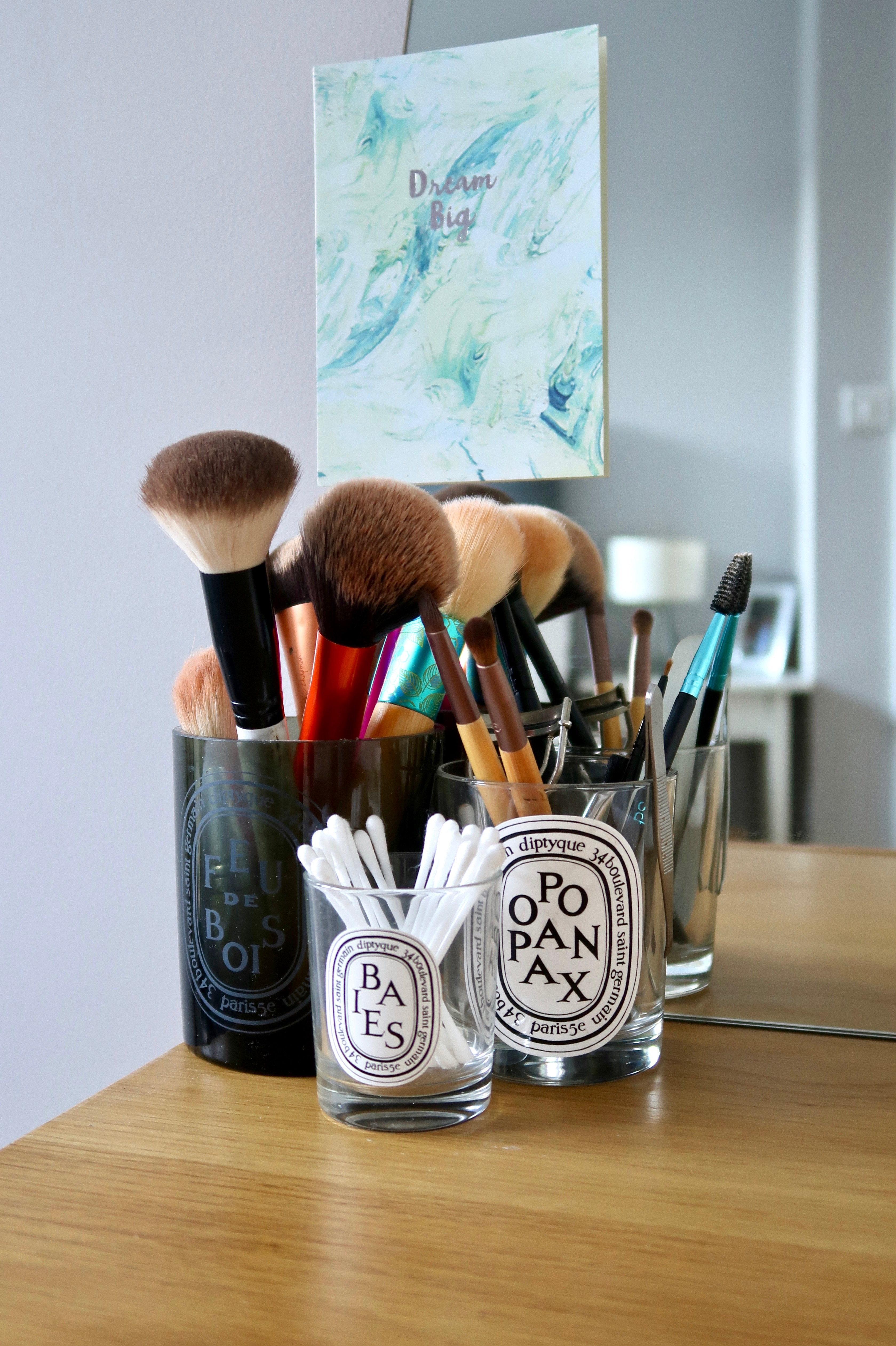 Diptyque makeup brush holders