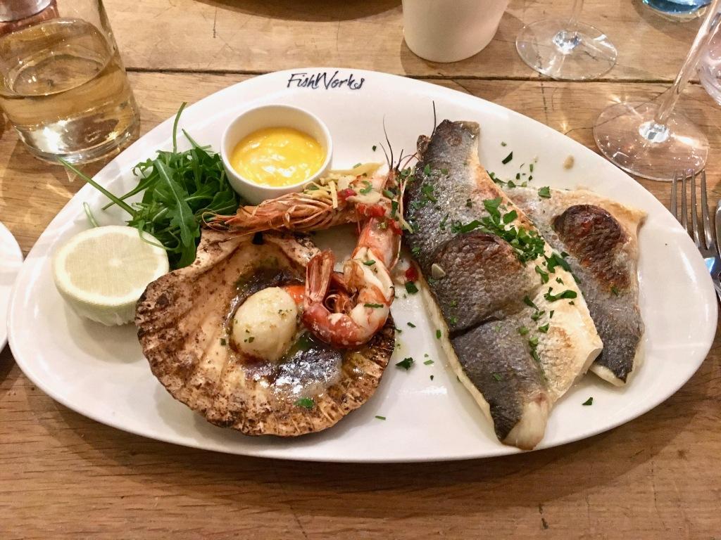 Fishworks grilled seafood platter