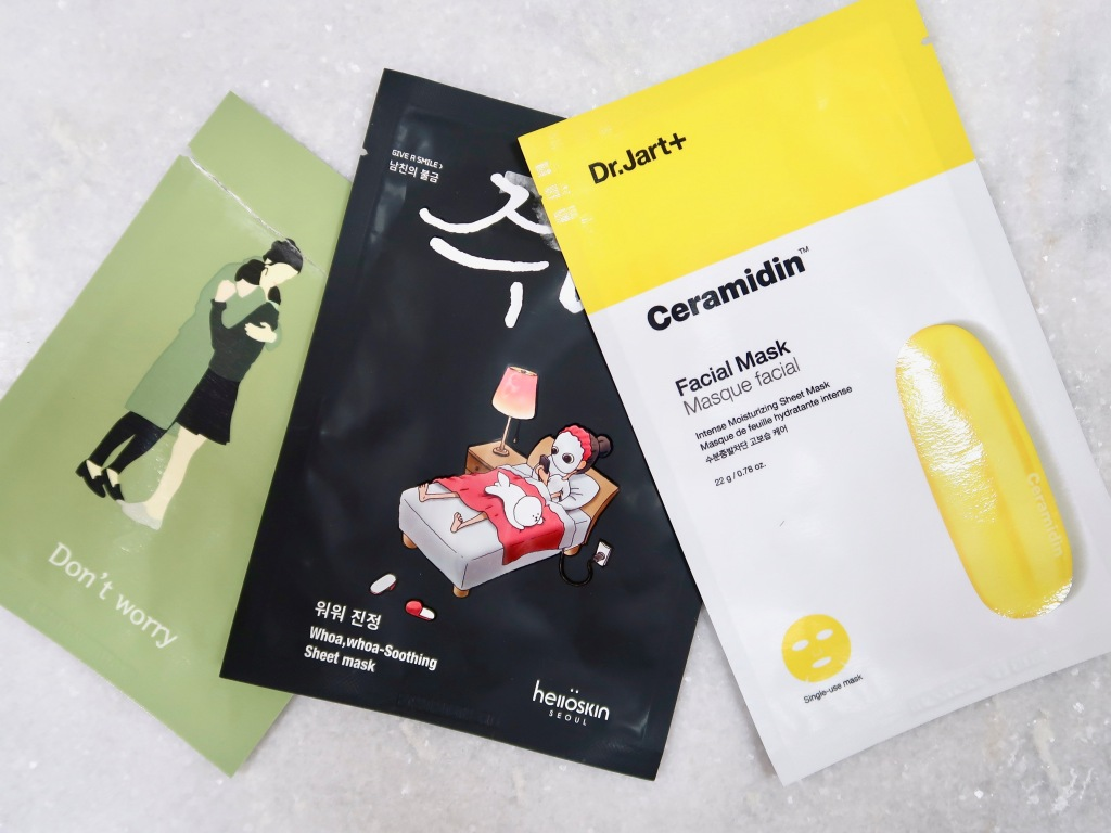 Korean skincare sheet masks