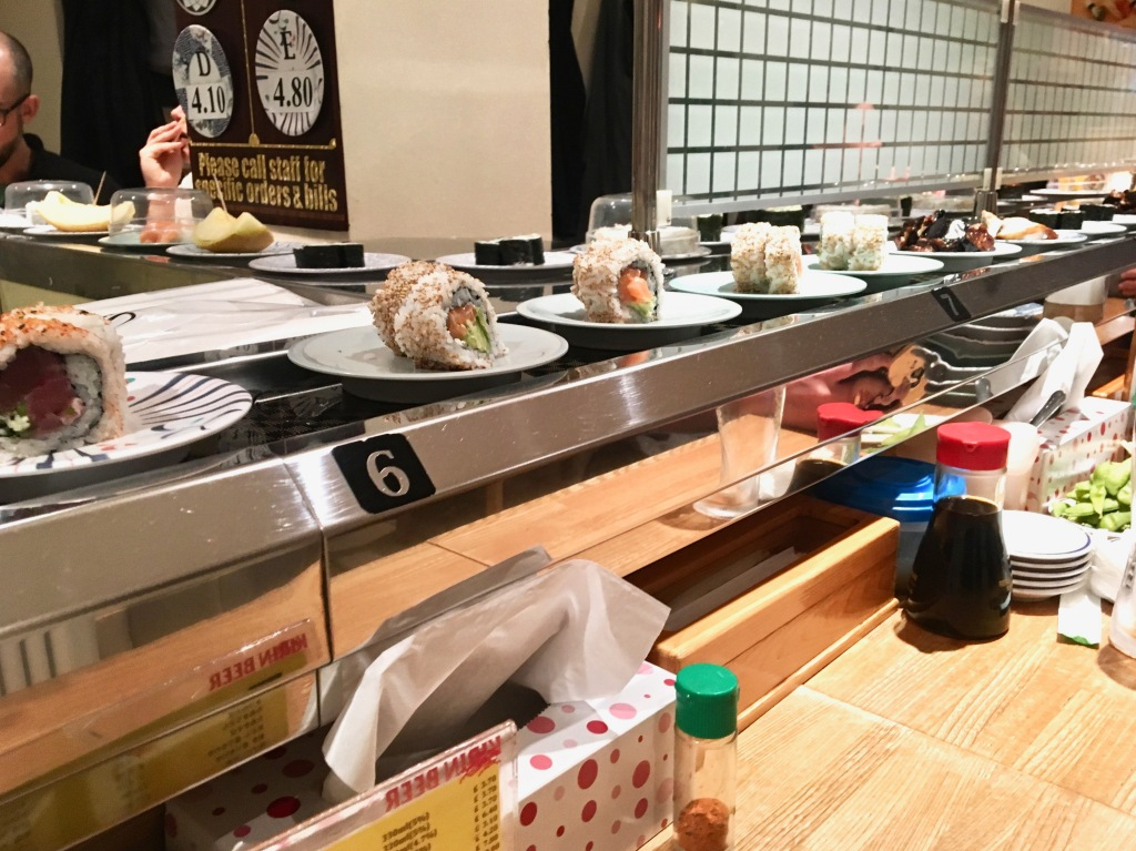 Kulu Kulu Sushi London conveyer belt