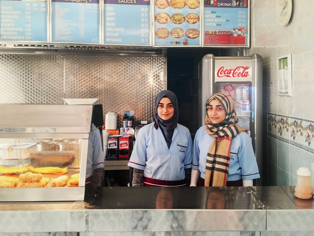 Martin Parr's Only Human fish and chips