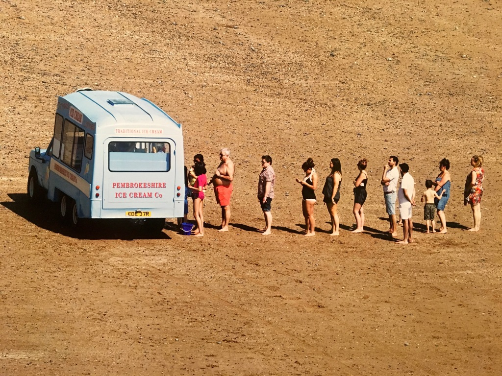Martin Parr's Only Human ice cream van