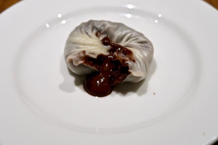 Din Tai Fung London chocolate and red bean bun
