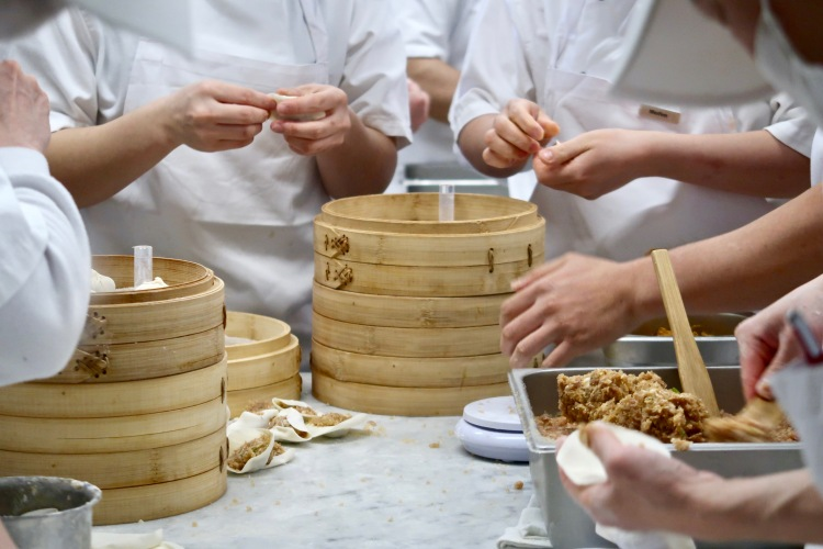 Din Tai Fung London kitchen